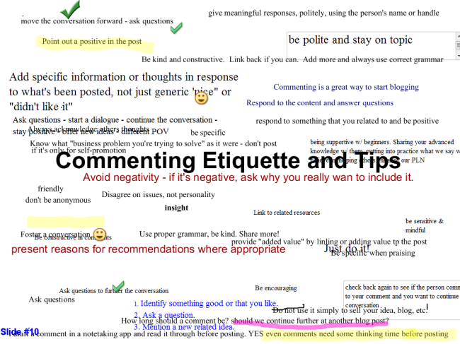 Commenting tips