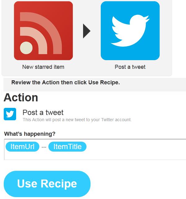 Click on Use Recipe