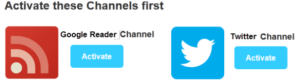 Authorize the channels