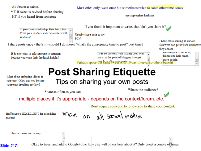 Post Sharing etiquette