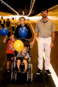 Hubby in Northbridge Tunnel, 2000