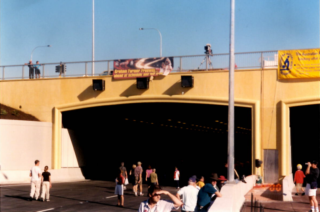 Entering the tunnel, 2000