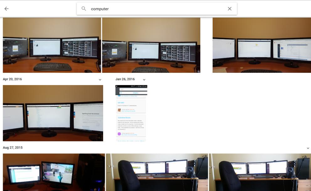 Google photo search