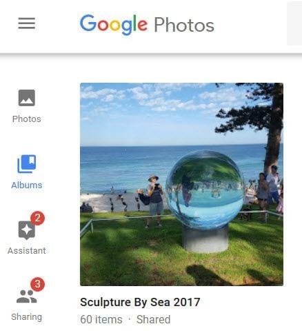 Google Photo album